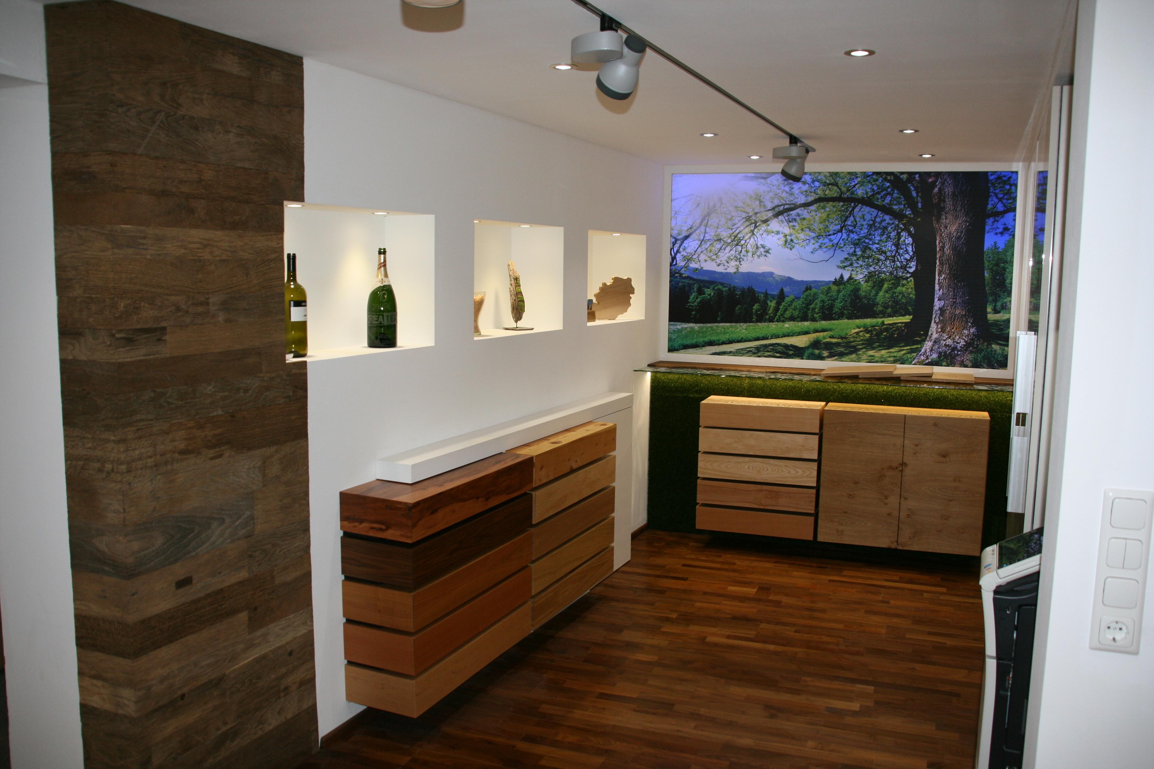 Schauraum Holztypen